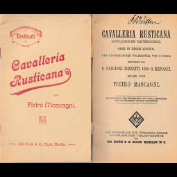 """Altes Textbuch """"Cavalleria Rusticana"""""""
