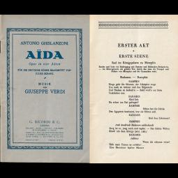 "Altes Textheft ""Aida"""