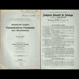 Abszedierende kruppöse Pneumokokken-Pneumonie ohne Mischinfektion
