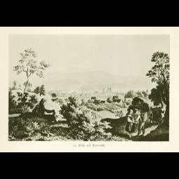"""Stahlstich """"Blick auf Bayreuth"""""""