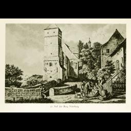 """Stahlstich """"Auf der Burg Nürnberg"""""""