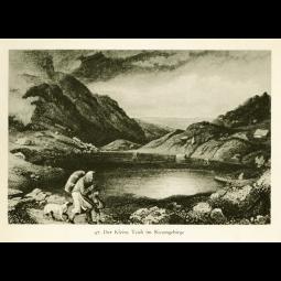"""Stahlstich """"Der kleine Teich im Riesengebirge"""""""