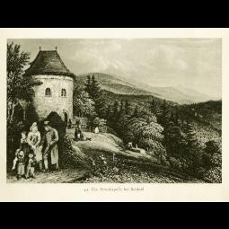 """Stahlstich """"Die Annakapelle bei Seidorf"""""""