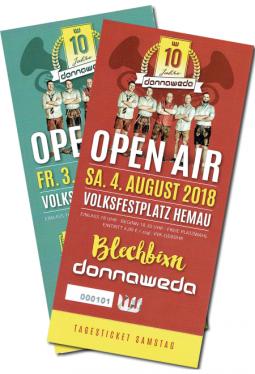 Tickets für beide Tage 3. + 4 August 2018
